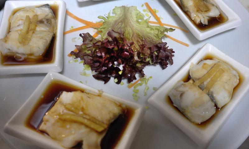 Spigola con Tofu al Vapore